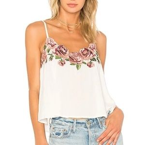 Show Me Your MuMu | Wesley Embroidered White Tank